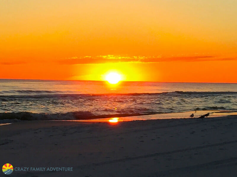 Watching the sunset over the water in Destin is a must!