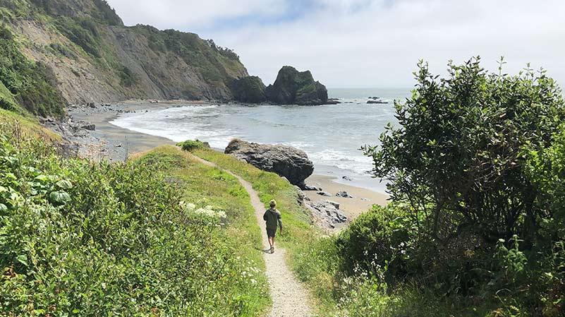 hiking on the coastal trail