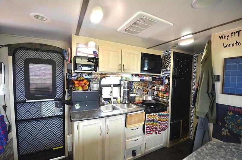 travel trailer Kitchen remodel