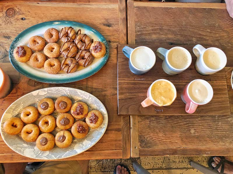 Pips donuts and chai in Portland