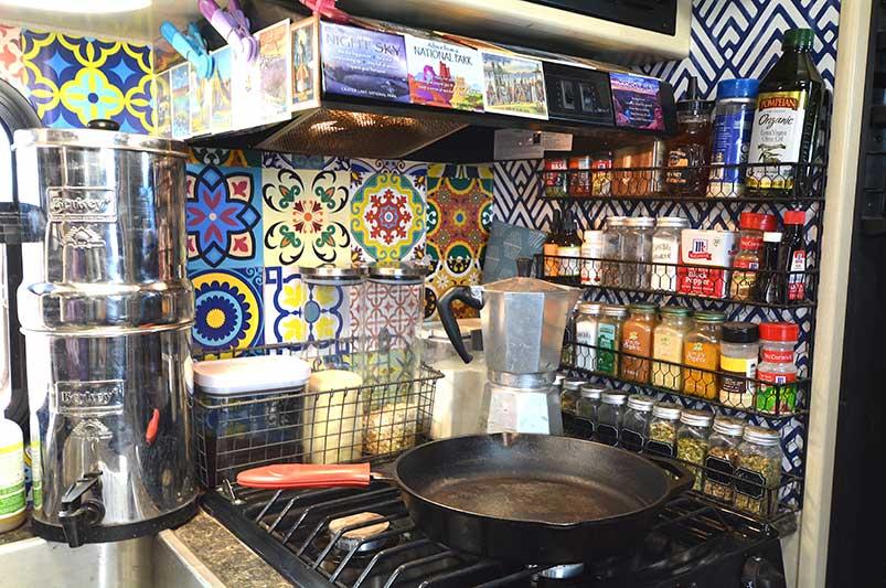 travel trailer stove area