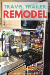 Check out all of the ways we made our travel trailer feel like the best home! Here we share all of the awesome products used in our Travel Trailer Remodel.