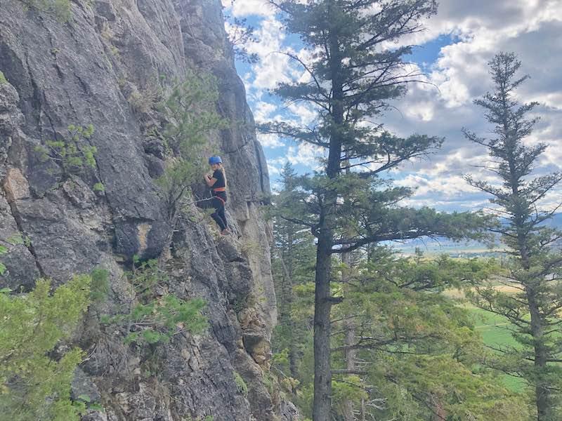 Rock climbing in Bozeman Montana