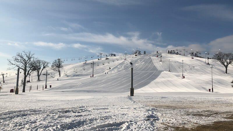 Ski hills at Wilmot Mountain