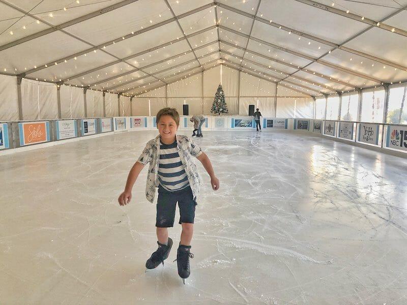 Ice Skating at the Wharf