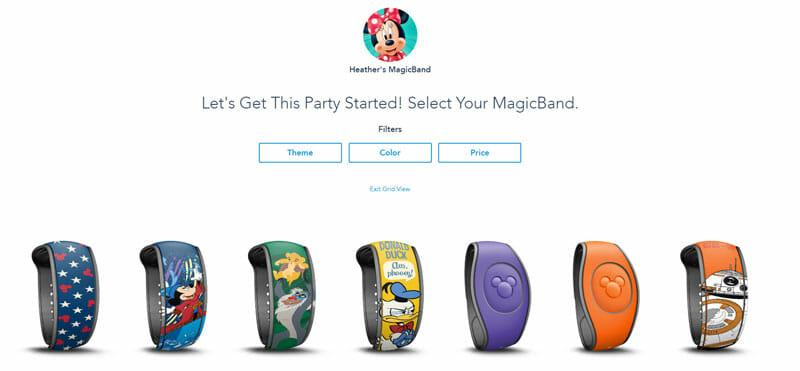 Disney Magic Band Options