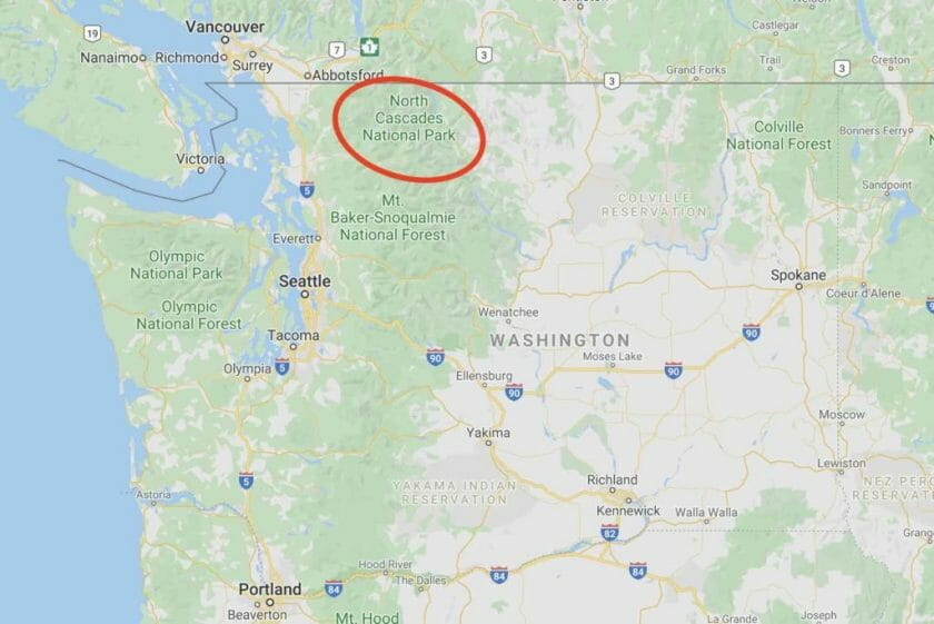 North Cascades Map