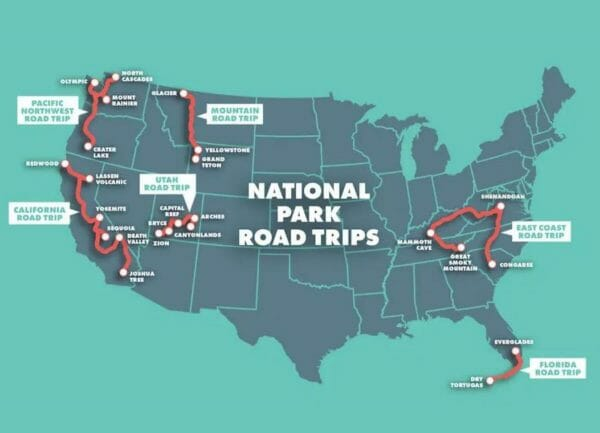 6 Epic National Park Road Trip Ideas [Maps Included]