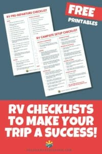 An RV checklist helps make your road trip less stressful and more enjoyable. We cover Pre-departure and campsite setup in our helpful checklists!
