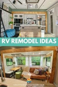 RV remodel ideas for your 5th wheel that can be done in less then 3 weeks! Come see the fun and simple things we did to it to make it feel like home and not like an RV!