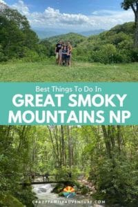 Check out all our recommendations for things to do in Great Smoky Mountains National Park with kids! From hiking to beautiful places the Smoky Mountains are a great place for a Tennessee vacation. Come check out our 3 day itinerary filled with all of the best things to do in the Smoky Mountains!