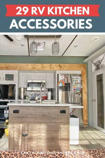 The RV Kitchen Accessories that you want for your RV! An RV kitchen is a great place to make dinner! Check out these great accessories to help make it even better!