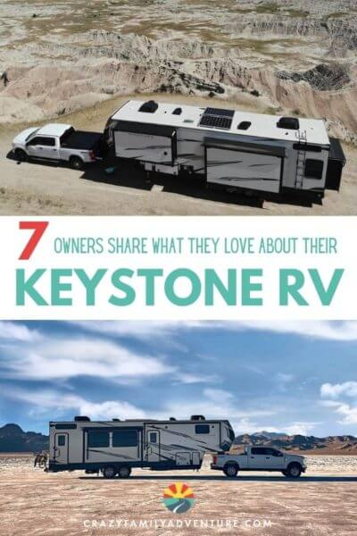 Check out what 7 Keystone RV owners have to say about their Keystone 5th wheel! Find out what they love about their 5th wheels, why they choose a Keystone and what you can expect when looking at Keystone RVs! Full time RVers will tell you they are a great rig for people with kids and without!