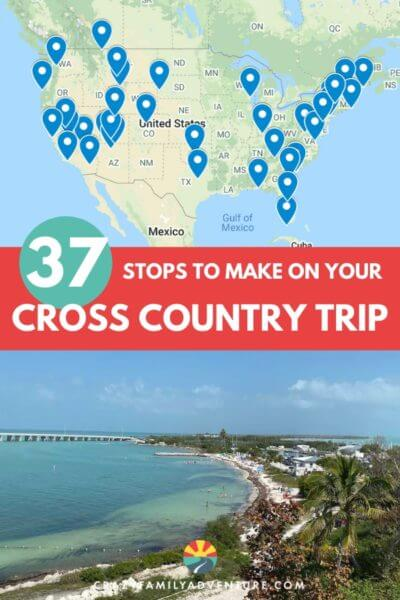 37 stops you don't want to miss on your US cross country road trip! There are so many routes you can take - in our post we lay out the stops you don't want to miss. This trip is great with an RV, with kids and with a dog! In here we include what you need to do when planning a trip and tips on what to do at the places you visit.