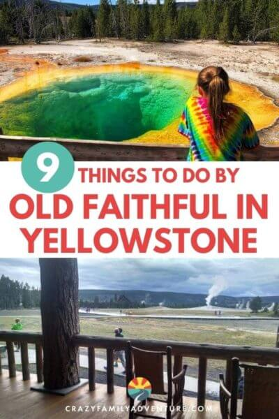 Old Faithful is a must stop in Yellowstone! Old Faithful is amazing but there are also a lot of really cool things to do in the Old Faithful area. Check out the visitor center and the museum in there, all of the geysers and thermal features at the upper geyser basin and of course see the Grand Prismatic! Here are 9 different things to do in the Old Faithful Yellowstone area on your Yellowstone National Park vacation!
