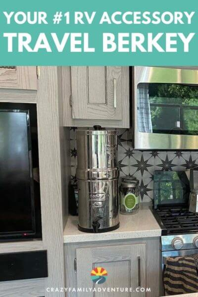Your number 1 RV accessory is your Travel Berkey! Have amazing water no matter where you park your RV. We have been using a Berkey for over 6 years in our RV and we couldn't travel without it!!