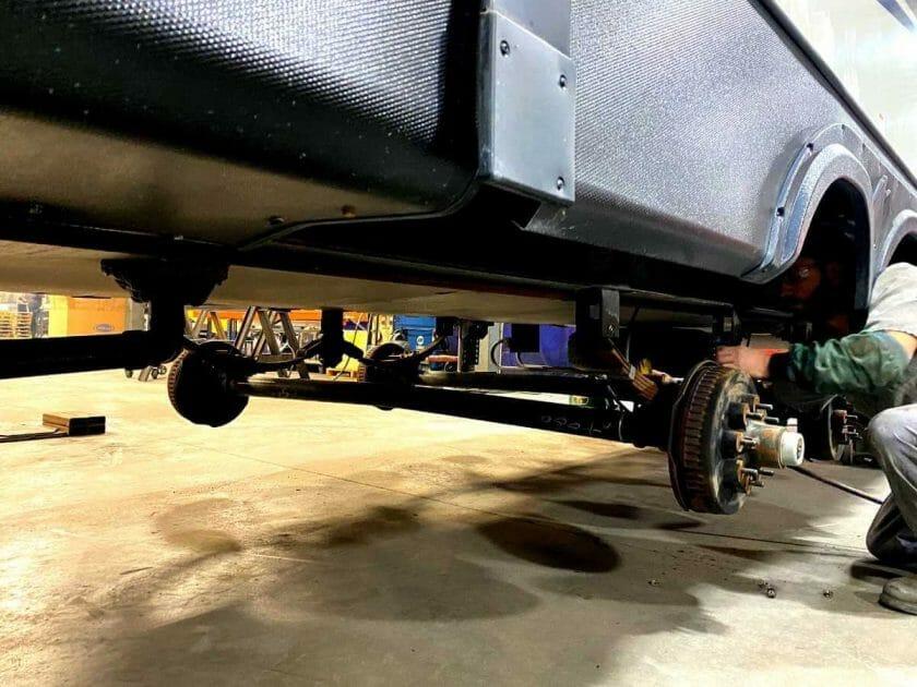 Independent trailer suspension install