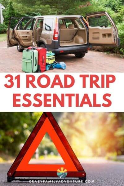 31 Road Trip Essentials you won't want to leave home without! Great for road trips with kids, with teens, or just for couples. This list will help make sure your road trip is a success! Everything from entertainment to snacks and supplies to have on hand.