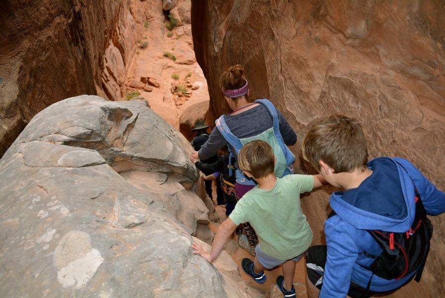 Hiking Fiery Furnace in Arches