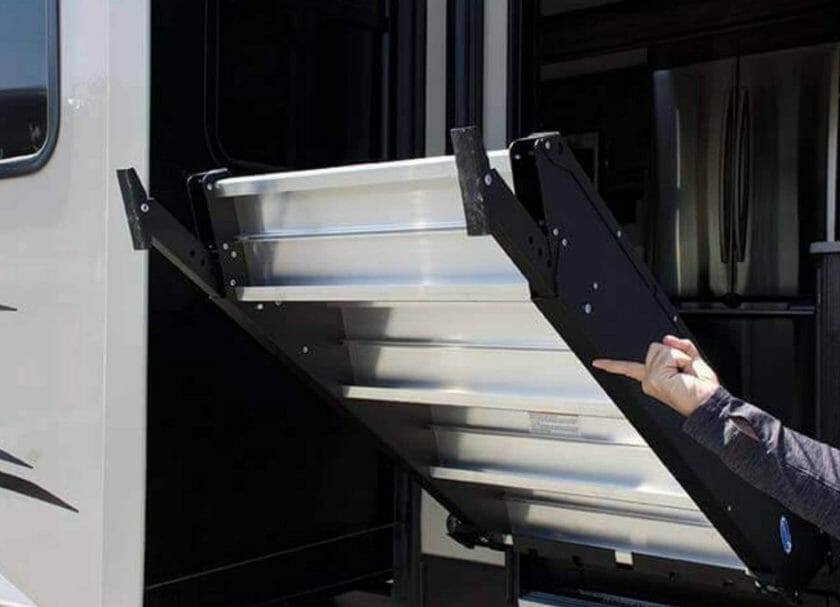 MORryde StepAbove RV Steps are so easy to operate, you can do it with one finger!