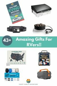 43+ awesome gifts for RVers! Great for a full-time RVer or a weekend RVer! Check out this post for great ideas on presents to buy the RVer in your life!