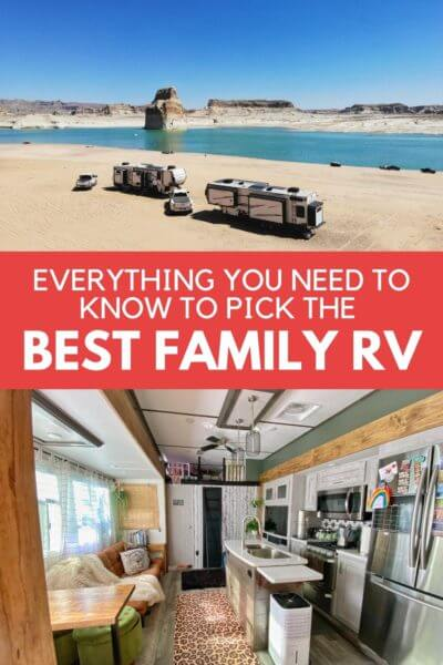 Everything you need to know to pick the best family RV! Should you go with a 5th wheel, motorhome, class c or travel trailer? What about travel days and an RV remodel? We have been in 5 rigs over our 7 years on the road. Come and see what we have learned to help you pick the right RV for your family!