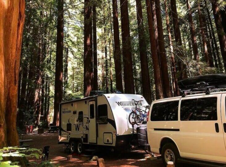 Burlington Campground RV campsites.