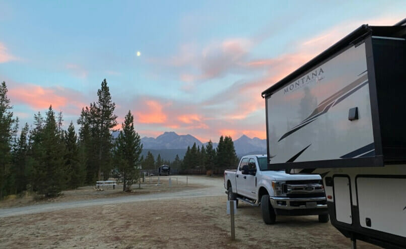 Stanley RV and Camping RV Campsite in Idaho