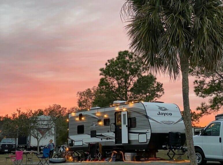 Thousand Trails Orlando RV campsites.