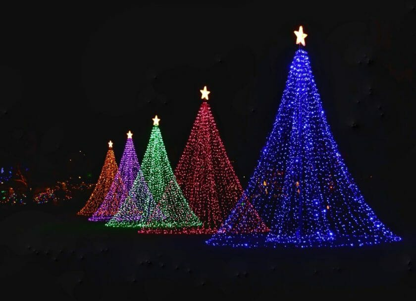 Christmas lights in Wisconsin
