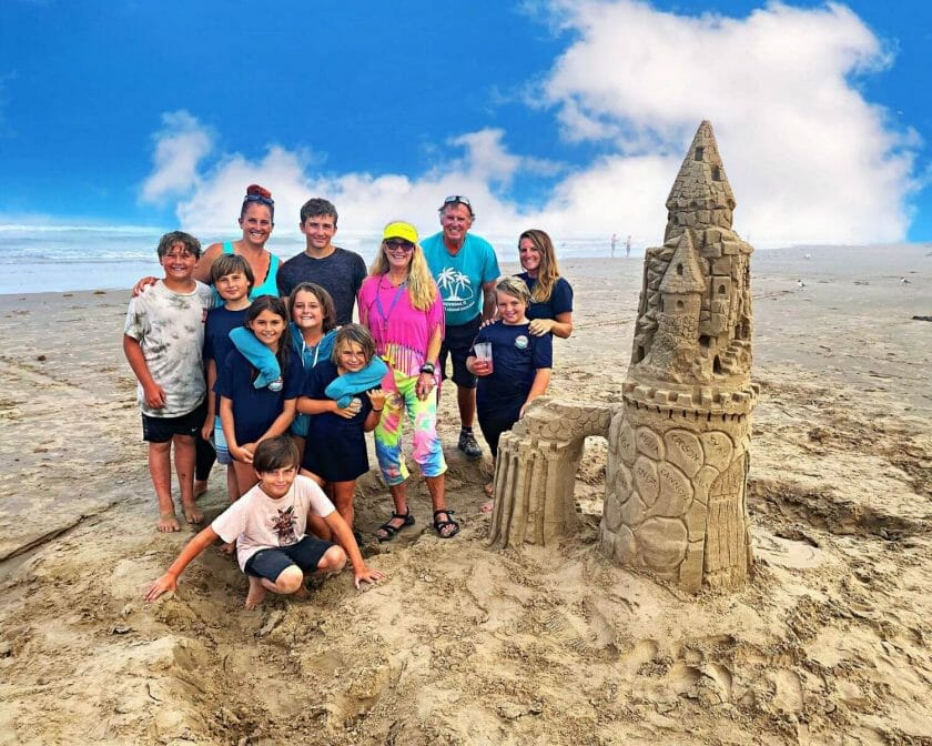An awesome thing to do in south padre island! Sand Castle building!