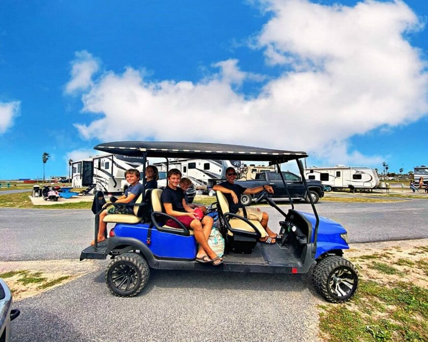 Renting golf carts in South Padre Island