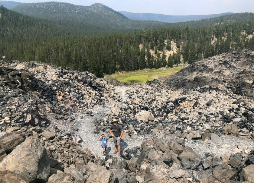 Obsidian Flow trail one of the top things to do in Bend Oregon
