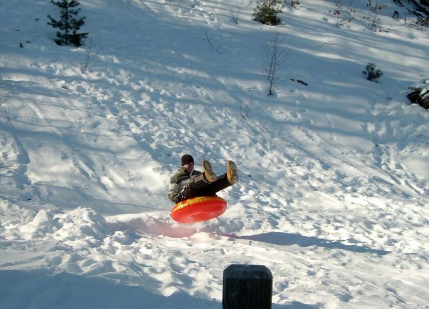 Snow tubing in Wisconsin