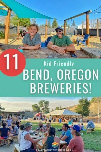 11 kid friendly Bend, Oregon Breweries to check out with your family! Beer, cider and food! We have you covered.