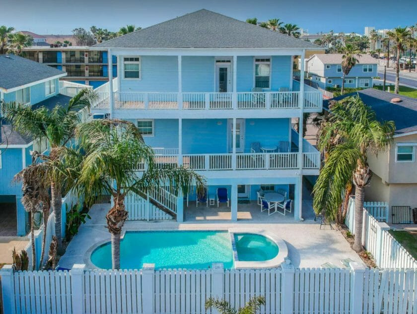 This is a picture of Happiness Comes in Salty Water VRBO South Padre Island