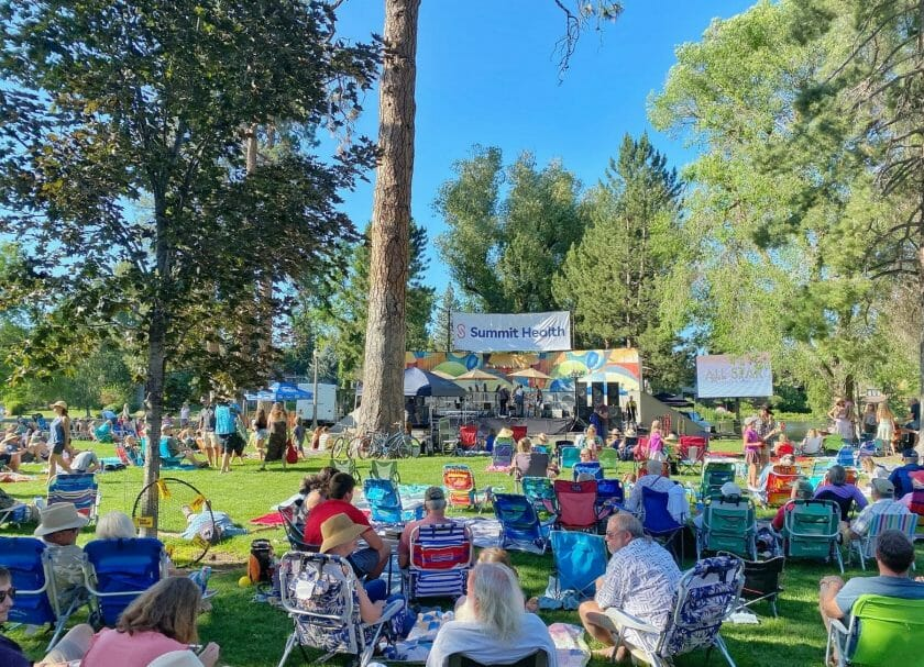 Music in the park in Bend