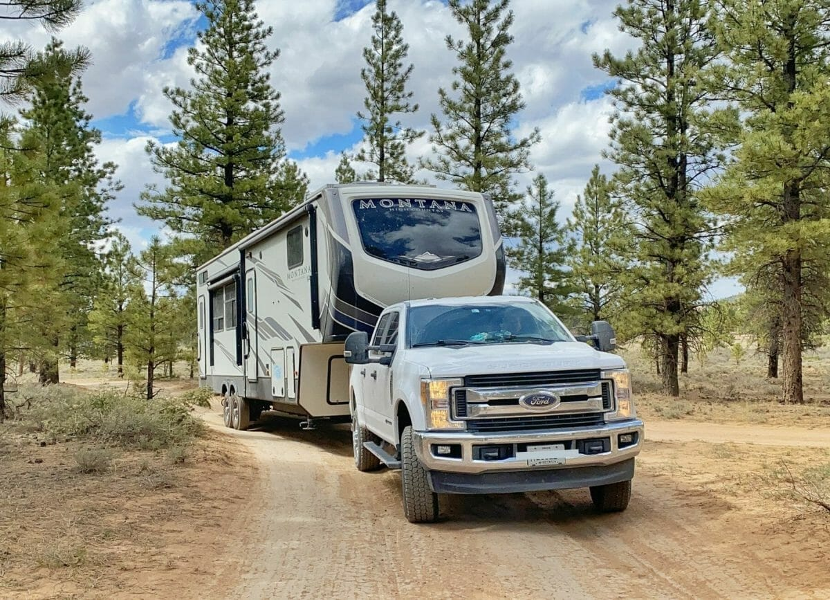 Driving to a boondocking spot